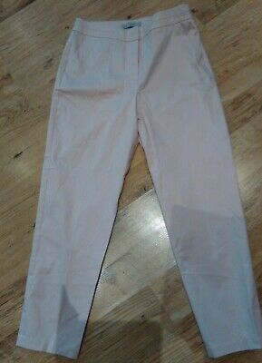 Marks & Spencer Collection Rose Pink Capri Crop Trousers, Size 10, 98% Cotton