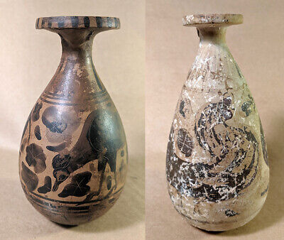 2 ETRUSCAN Vases - One is over 2000 years old (500BC), the other is a FAKE