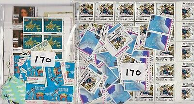 $1 ( 2 Stamps ) X 170  Australia Post Stamps  Mint Full Gum Face Value $170