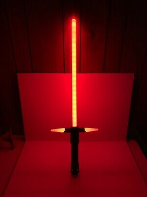 "Star Wars  Kylo Ren  Red Electronic Lightsaber ""Disney Store"" Ultimate FX Tested"