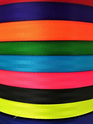 SeatBelt Webbing 25mm wide - 1'' Polyester webbing x 10 meters - Seat Belt