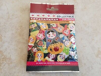 Pin Trading Disney Pins Lot of 5 Collectible Pin Pack Nesting Dolls New