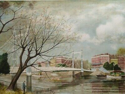 Limited Edition Framed Print Of A Oxford Bridge By Jeremy King Born 1933 4126