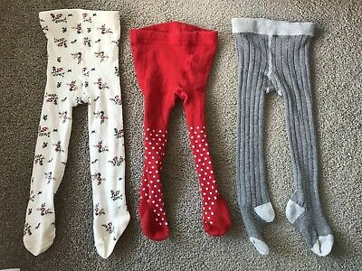 Baby Girls Stocking/ Tights/ Leggings Size 6-12 Months 0. Bonds, Floral And Red