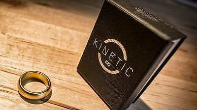 Kinetic PK Ring (Gold) Curved size 11 by Jim Trainer - Magic Tricks