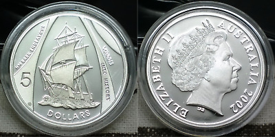 2002 Masterpieces in Silver - Endeavour - 36.31 grams 999 silver proof $5 coin