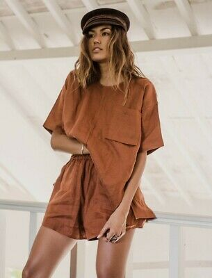 Arthur Apparel Shorts And Top Set Linen