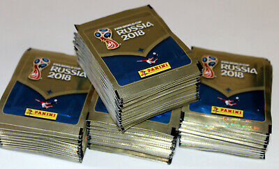 Panini WC WM RUSSIA 2018 18 INT. VERSION 670 – 200 x Tüte packet bustina MINT