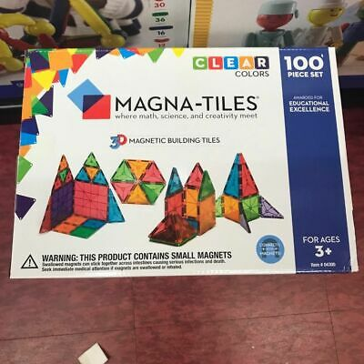 Magna Tiles Clear Colors 100 Piece Set free Shipping