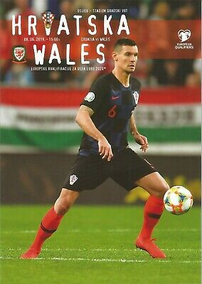 CROATIA v WALES  8th June 2019 Official VIP Programme