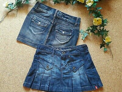 84d37f337150 2 JEANS RÖCKE! EDC by ESPRIT + COLOURS of the world Gr. S 36 W 27 28 only  denim