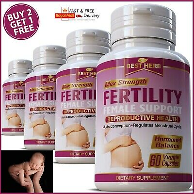 Women Fertility Boost Conception Support Pills Ovulation Pregnancy Conceiving