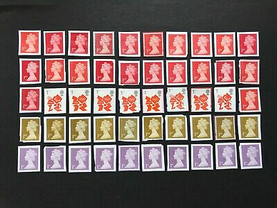 100 x  UNFRANKED   1st class stamps on paper  -  Face Value £70