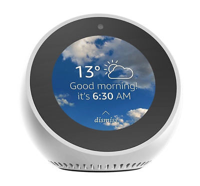 Amazon Echo Spot White Smart Assistant With Alarm Clock And Alexa Brand New