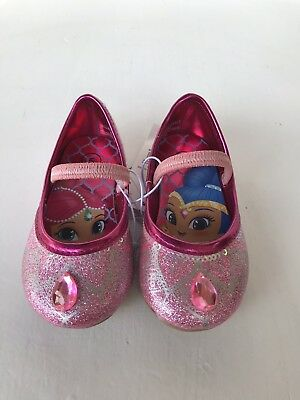 Nickelodeon Shimmer and Shine Shoes Ballet Flats Pink Toddler Girls' size 5