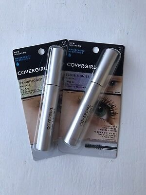 47cf23c41a7 Covergirl Exhibitionist Waterproof Mascara #825 Very Black, 0.3 oz Lot Of 2