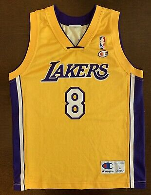 c852becf Rare Vintage European Champion NBA Los Angeles Lakers Kobe Bryant Jersey  Youth L
