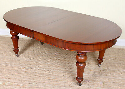 Large Antique Victorian Dining Table Mahogany