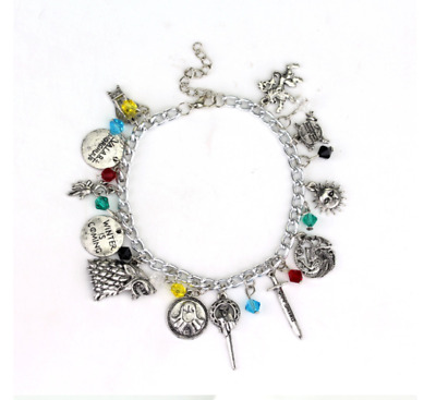 Game Of Thrones Inspired Charm Bracelet Jewellery Silver Plated