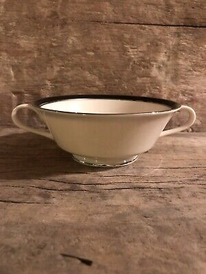 Lenox Black Royale Cream Soup Bowl (bouillon cup)