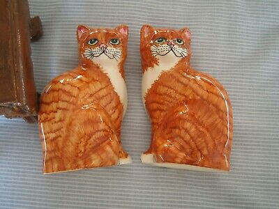 Pair Babbacombe Ginger Tabby Cat Ornaments