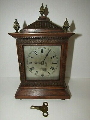 Antique Black Forest Winterhalder & Hofmeier Miniature Bracket Clock, 8-Day