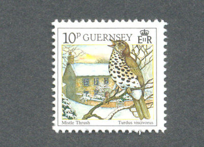Birds-Mistle Thrush Guernsey 1990 mnh