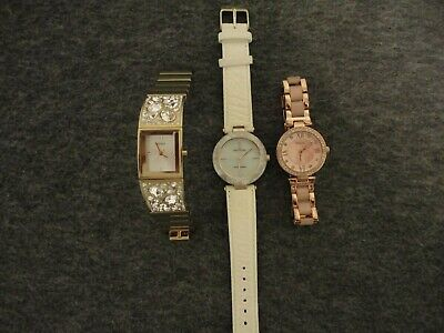 Guess Relic Anne Klein Lot Of 3 Mujer Relojes U0002L2/ZR34335/10 9852 NEW