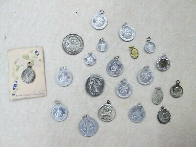 21, Vintage Catholic Religious Medals