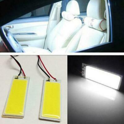 2x 12V 36 COB LED Xenon HID White Dome Map Light Bulbs Car Interior Panel Lamp