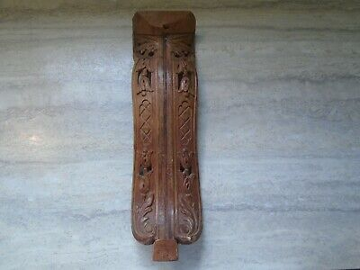 Antique Wood Architectural Furniture Salvage Piece Ornate Detail