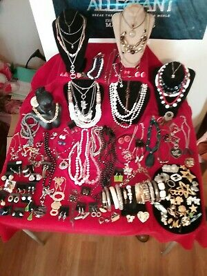 Large Lot of Wearable Vintage to Now Costume Jewelry - Great Variety  119pcs