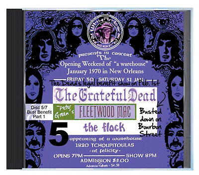 PETER GREEN'S FLEETWOOD MAC, Bust Benefit, New Orleans, Feb 1 1970, LIVE on CD