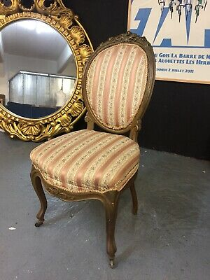 Victorian Antique French Louis Style Bedroom / Boudoir Chair          M3153