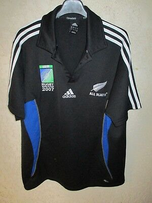 Maillot rugby NOUVELLE ZELANDE ALL BLACKS NEW ZEALAND World Cup 2007 Adidas 4 M