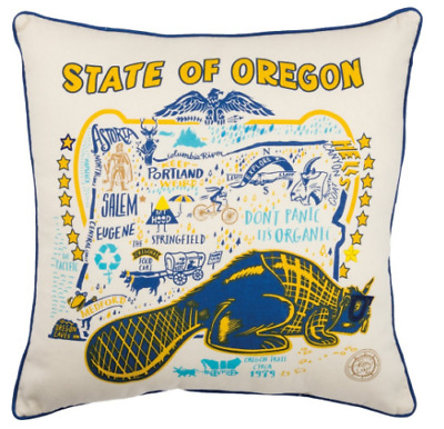 "State Of Oregon Oversize 20"" Decorative Throw Pillows Wholesale Lot of 6 New"