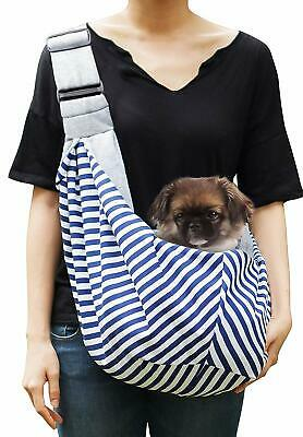 Timetuu Pet Reversible Sling Carrier for Small Dogs/Cats w/Adjustable Buckles