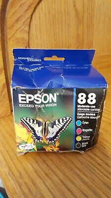 New Epson 88 Moderate-Use Ink Cartridge 4-Color Black Cyan Magenta Yellow CMYK