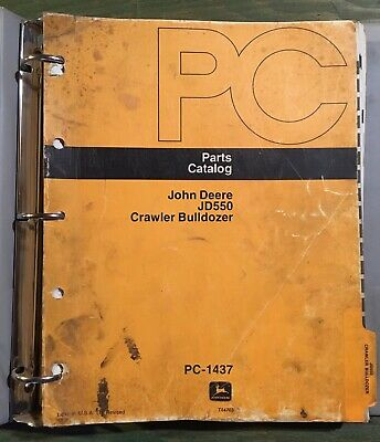 JOHN DEERE 550 Crawler Tractor Dozer Parts Manual Book