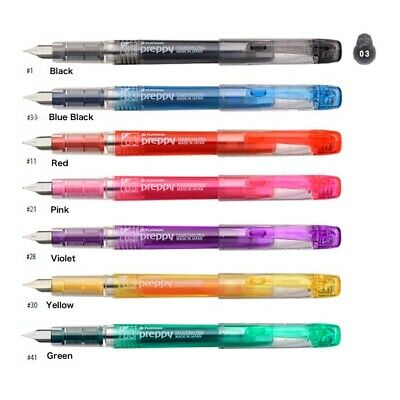PLATINUM Preppy 0.3mm Fountain Pen and 2 piece of Refill ships from Japan