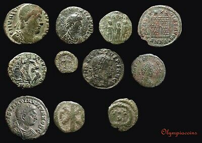 LOT OF 11  VERY FINE  Ancient ROMAN  Bronze coins