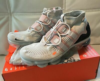 Nike Air Vapormax Flyknit Utility Light Bone White Orange AH6834-002 MEN SZ 9
