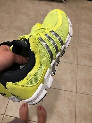 on sale 809dd a4768 MINT ADIDAS CLIMACOOL Tennis Shoes Neon Green Yellow Volt Size 11 Very Nice  Rare