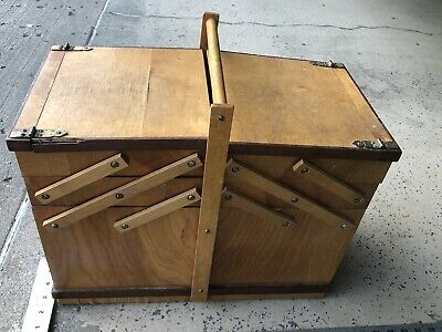 Vintage  Sewing Box Kit 1950's Accordion Joints