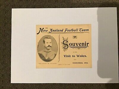 1905 New Zealand / All Blacks Visit to Wales Rugby Programme