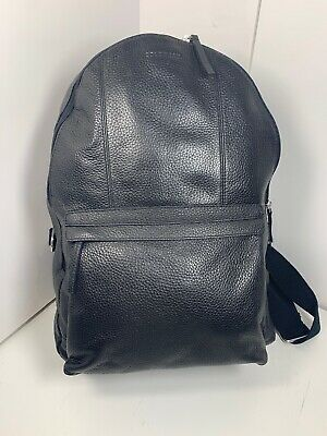 c77ab15132 Nwt Black Leather Cole Haan Men Wayland Pebbled Leather Backpack Black  Msrp$398.