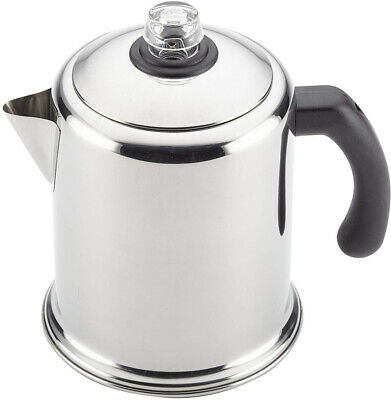 Heavy Duty Stove Top Percolator Yosemite Coffee Pot Maker 12-Cup Stainless Steel