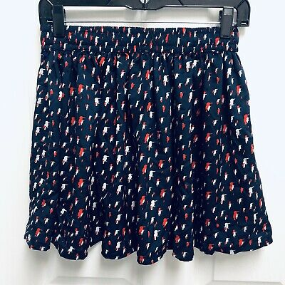 ab34022f6 Women's PATRIOTIC Skirt Size XS MNG By Mango BIRDS RED WHITE & NAVY BLUE ...