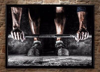 Weight Lifting Gym Training Sport High-Quality Poster Print Wall Art A1, A2, A3+