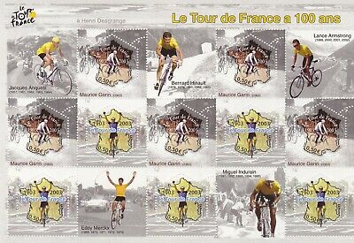 Bloc feuillet France 2003 Le tour de France à 100 ans